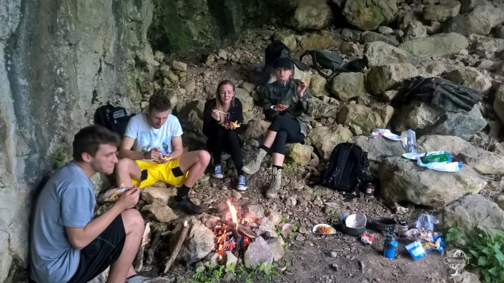 Caves and a fire